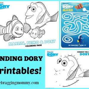Grab These Printable Finding Dory Coloring & Activity Sheets! #FindingDoryEvent