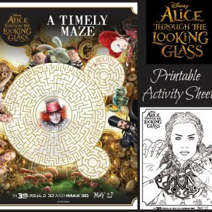 Disney Alice Through the Looking Glass Activity Sheets! #ThroughTheLookingGlass