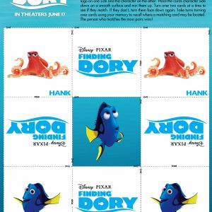 Finding Dory Memory Game + More Printables! #FindingDoryEvent
