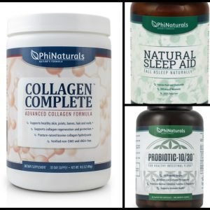 Phi Naturals Health Supplements Giveaway