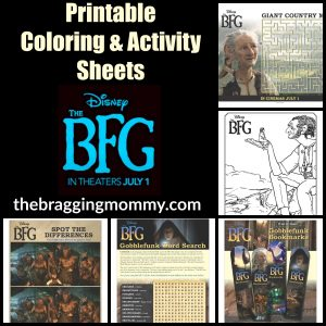 Disney's The BFG Printable Coloring and Activity Sheets! #TheBFG