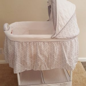 Baby Sleeps in Comfort Close By ~ Delta Children Gliding Bassinet Review