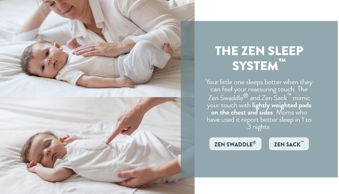 22b27fa62 Help Baby Sleep Better with Nested Bean Zen Swaddle and Zen Sack ...