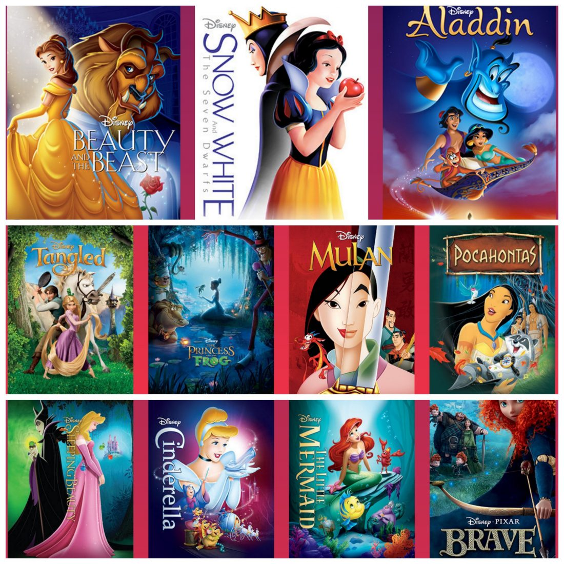 all of the disney princess movies are out of the vault fun new