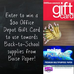 Back to School Shopping with Boise Paper- Discount Alert! + $50 Gift Card Giveaway