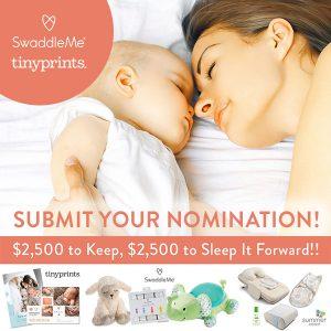 "Enter the ""Sleep It Forward"" Sweeps + SwaddleMe Giveaway (5 Winners!)"