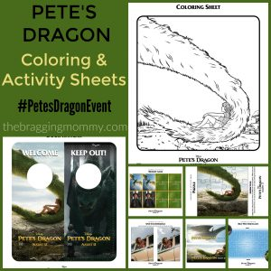 Printable Pete's Dragon Coloring & Activity Sheets + Funny Video #PetesDragonEvent