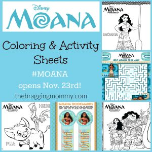 Brand New MOANA Printable Activity Sheets! #Moana Opens in Theaters Nov. 23rd!