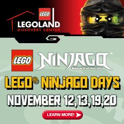 Don't Miss the LEGOLAND Discovery Center Arizona NINJAGO Weekends Nov. 12,13 & 19,20!