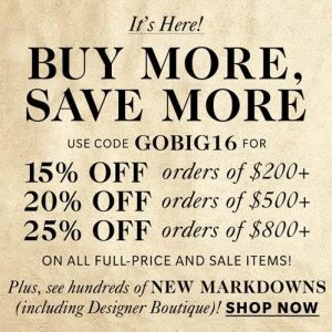 Shopbop Buy More Save More Sale ~ Get Up to 25% Off!