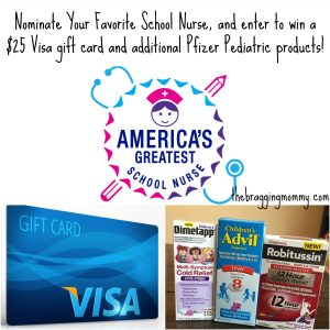 America's Greatest School Nurse Contest and Pfizer Pediatrics Giveaway! #sickjustgotreal