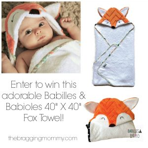 Babilles & Babioles Etsy Shop Review, Discount, and Adorable Fox Towel Giveaway!