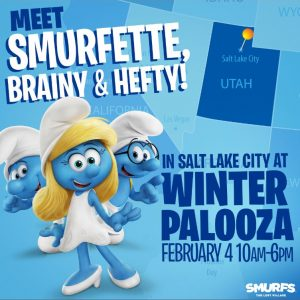 Utah Readers: Meet the SMURFS at the Utah Kids Club Winter Palooza this Saturday Feb. 4th #SmurfsMovie