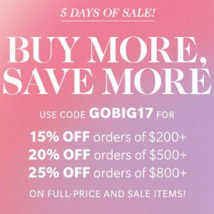 Buy More, Save More Shopbop Sale ~ 5 Days Only, Get Up to 25% OFF!