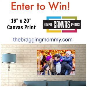 The Perfect Addition to Baby's Nursery ~ Simple Canvas Prints Review & 16×20 Canvas Giveaway!