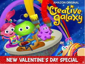 Amazon's Creative Galaxy Valentine's Day Special Premiering February 7