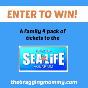 SEA LIFE Arizona Aquarium Family 4 Pack of Tickets Giveaway