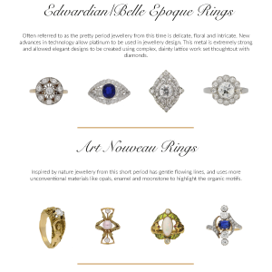 A vintage engagement ring has a timeless appeal