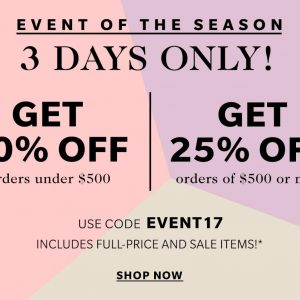 New Shopbop Sale Happening Now! Save Up to 25% ~ 3 Days Only