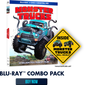 Monster Trucks Blu-ray Combo Pack Review and Giveaway