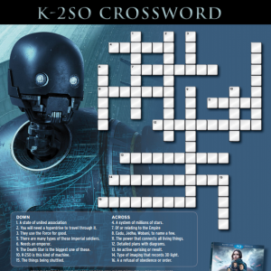 Free Star Wars Rogue One Printables, Trivia & Crossword Sheets ~ Own Rogue One on Blu-ray and Digital HD Now! #StarWars #RogueOne