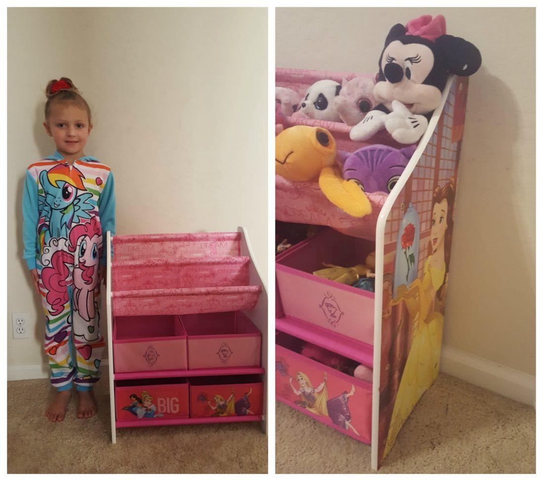 Princess Book And Toy Organizer