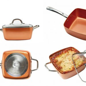 Tristar Products Copper Chef XL Family-Sized Square Pan Review and Discount!