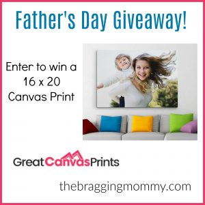 A Custom Printed Canvas is the Perfect Gift for Father's Day + 16 x 20 Canvas Print Giveaway