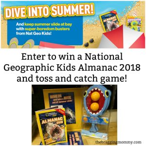 "Beat the ""Summer Slide""- National Geographic Kids Almanac 2018 Review and Giveaway Prize Pack!"