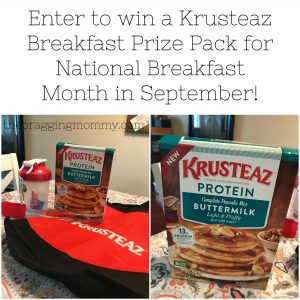 Celebrate National Breakfast Month this September with Krusteaz and their New Buttermilk Protein Pancake Mix! + Giveaway