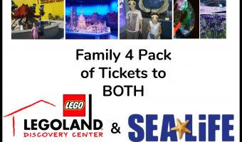 LEGOLAND Discovery Center AZ & SEA LIFE Arizona Aquarium Family 4 Pack of Tickets Giveaway