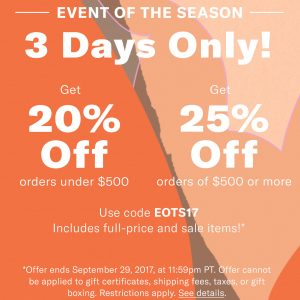 3 Day Shopbop Sale ~ Get up to 25% off! #Shopbop