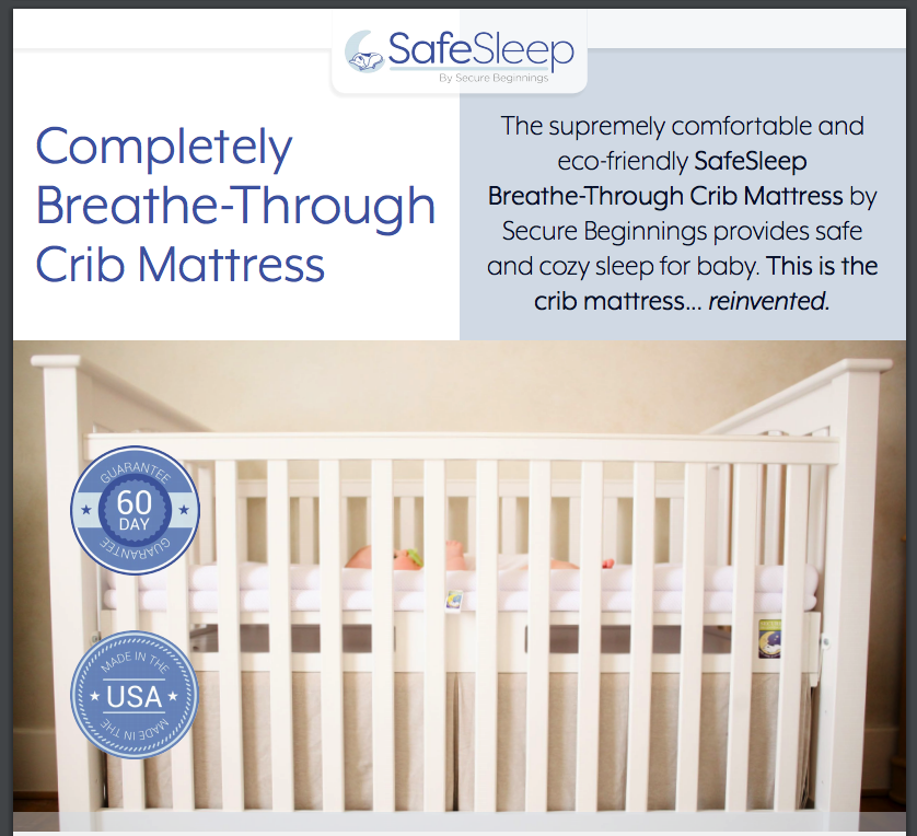 Secure Beginnings Safesleep Breathe Through Crib Mattress