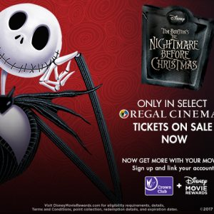 Watch The Nightmare Before Christmas at Regal Cinemas on Halloween Weekend