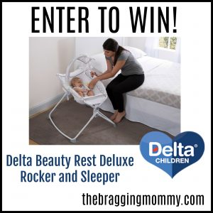 {Brag Worthy Christmas} Delta Beauty Rest Deluxe Rocker and Sleeper Giveaway
