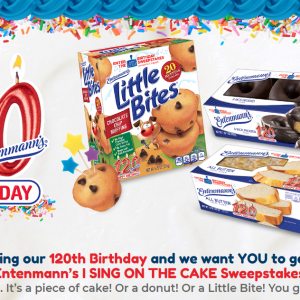 "Entenmann's 120th Birthday ""I Sing on the Cake Sweepstakes"" + $25 Visa GC & Little Bites Giveaway #entenmanns120"