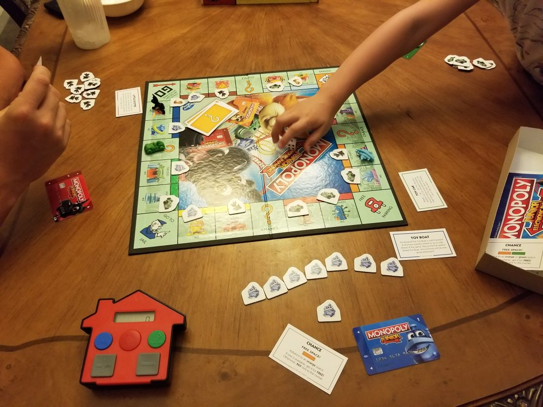 It Is World Monopoly Day We Are Playing The New Monopoly Junior