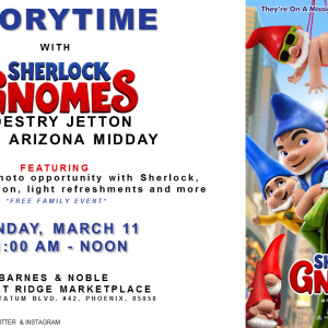 Free Family Sherlock Gnomes Event in Phoenix This Sunday, March 11! #SherlockGnomes