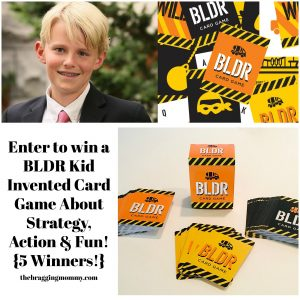 BLDR- Kid Invented Card Game About Strategy, Action & Fun- Review, 30% Discount, and Giveaway (5 Winners!)