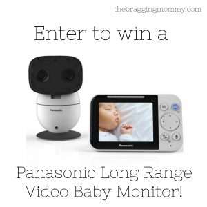 Panasonic Long Range Baby Video Monitor Review, Discount, and Giveaway!