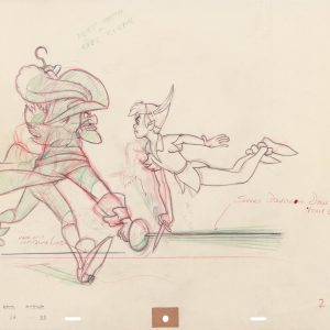 Visiting Disney's Animation Research Library to View the Original Art from Peter Pan! #PeterPanBluray