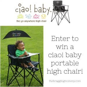 ciao! baby Go Anywhere High Chair Review, Discount, and Giveaway!