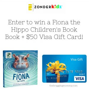 Fiona the Hippo Children's Book Review and Book + $50 Visa Gift Card Giveaway #FionatheHippo
