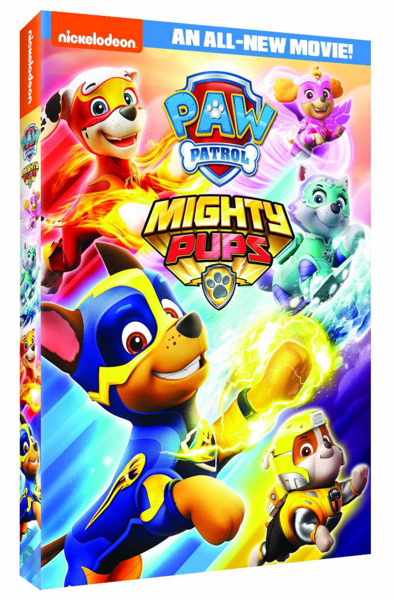 Paw Patrol Mighty Pups Dvd Giveaway