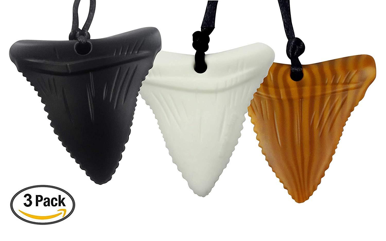 Shark Tooth Sensory Chew Necklace for Kids Sensory Teether Pendant